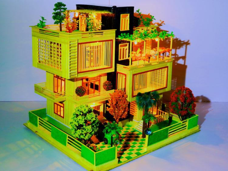 nhà tăm tre hiện đại