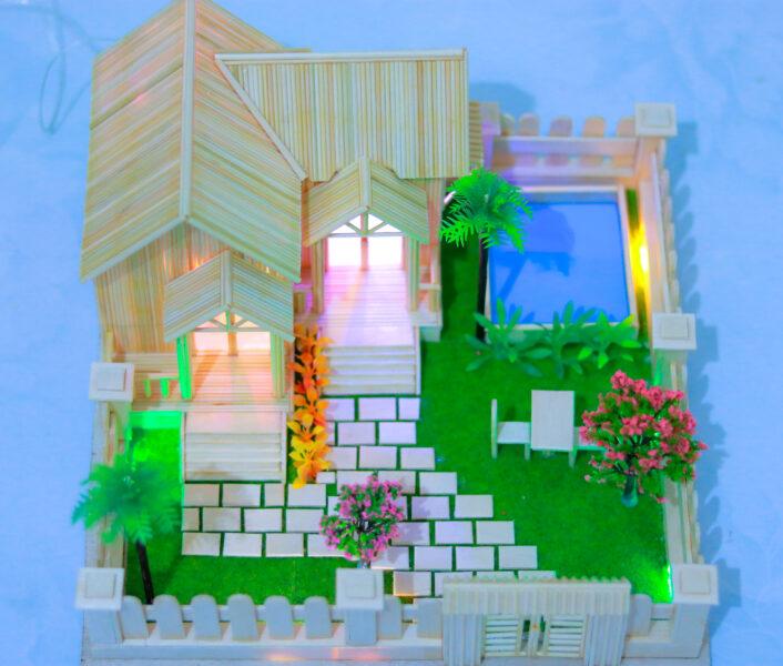 Nhà Tăm Tre 1 tầng đẹp