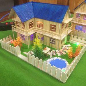nhà tăm tre N-2A mái xanh