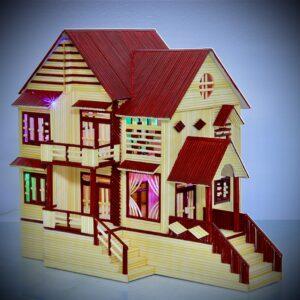 Nhà tăm tre mái thái 2 tầng